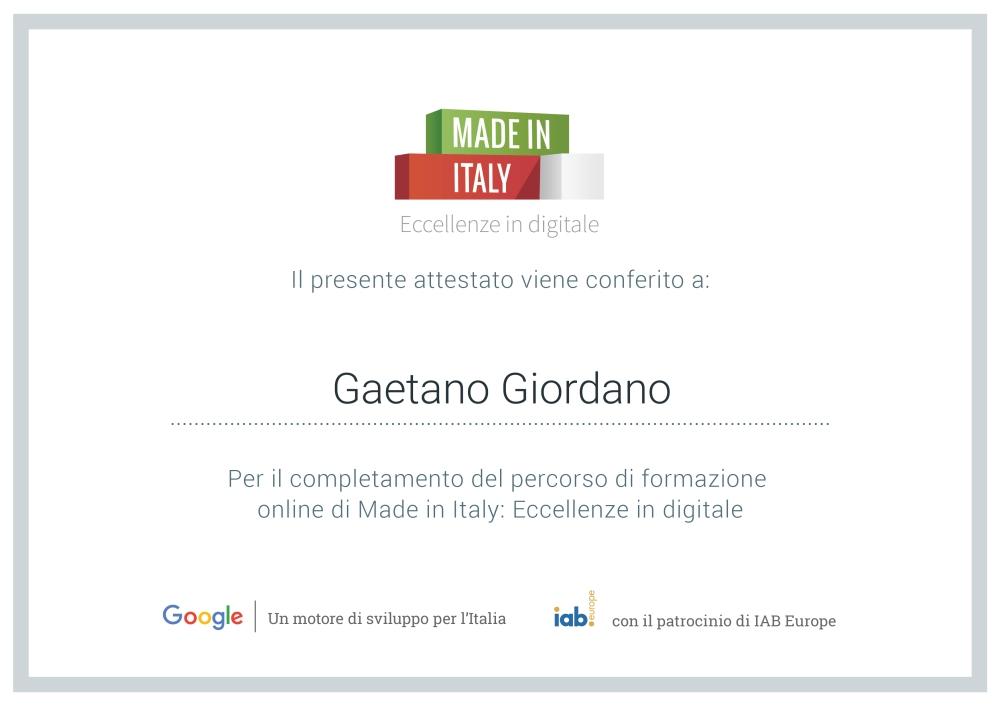 Digital Garage Certificate
